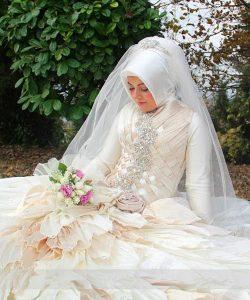 احدث فساتين زفاف تركية للمحجبات