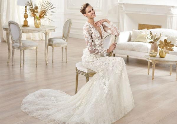 اجمل فساتين زفاف دانتيل للصبايا 2015