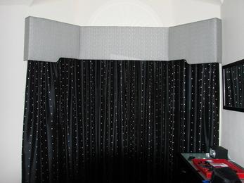 ستائر حمامات سوداء سيدار