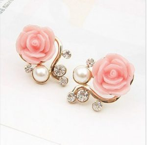 2014-New-Fashion-18K-Gold-Plated-Cute-Sweet-font-b-Rose-b-font-Shaped-Artificial-Pearl