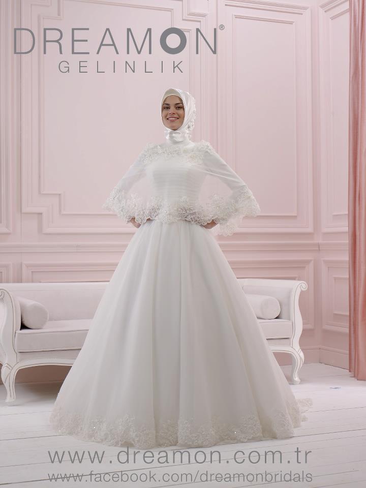 فساتين زفاف محجبات تركي 2015