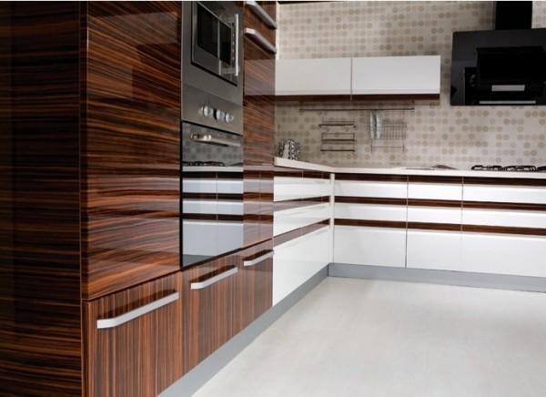 مطابخ تركي خشبية بنية اللون 2016