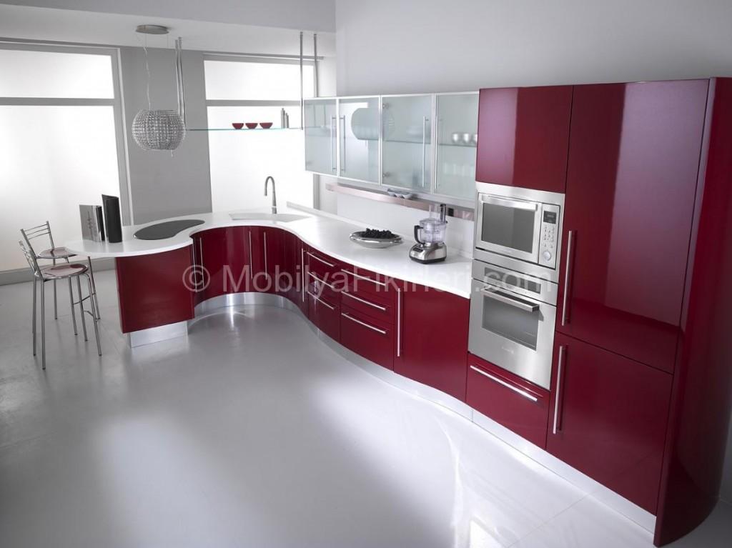 صور مطبخ تركي مودرن باللون العنبي في ابيض 2018
