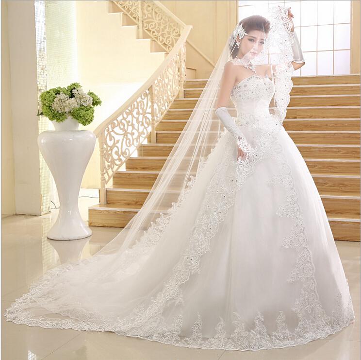 فساتين زفاف جميلة من الكريستال موضة 2015