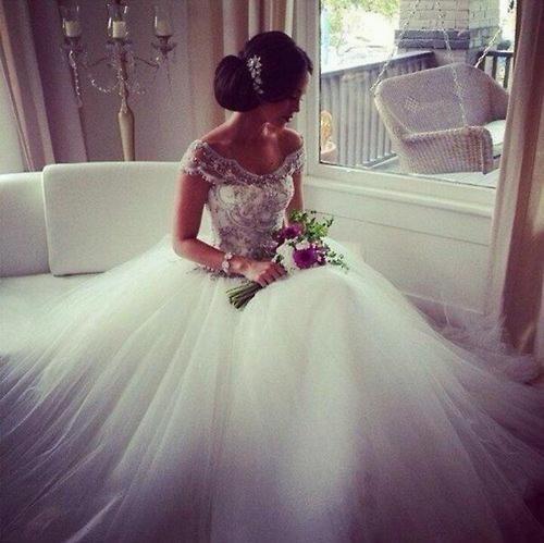 مجموعة فساتين زفاف منفوشة موضة 2015