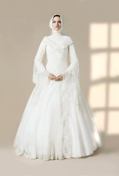 احدث فساتين زفاف تركية 2015