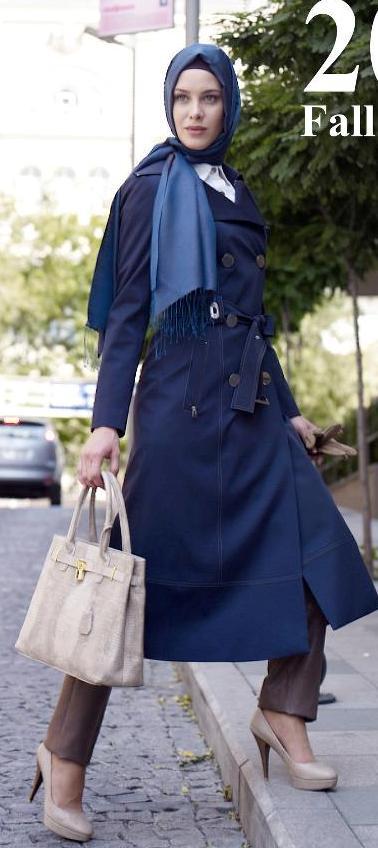 اجمل ملابس محجبات شتاء 2015