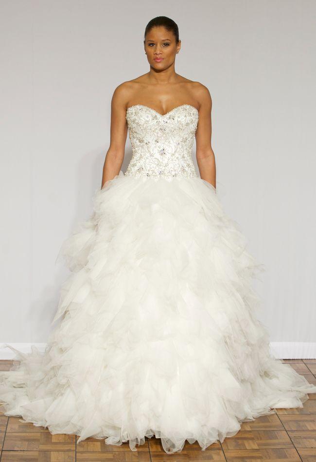 فساتين زفاف كب تصميمات بسيطة موضة 2015