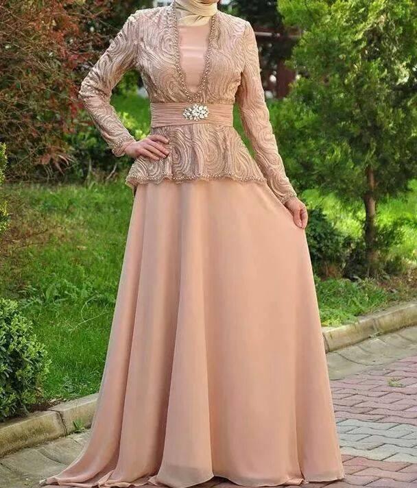 عباية فستان للمحجبات 2015