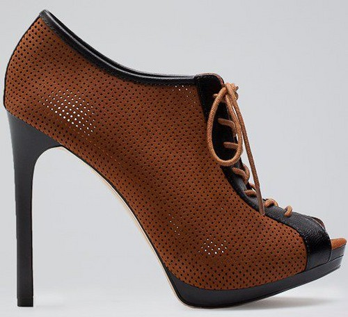 احذية نسائية بنية كعب عالي انيق تركي