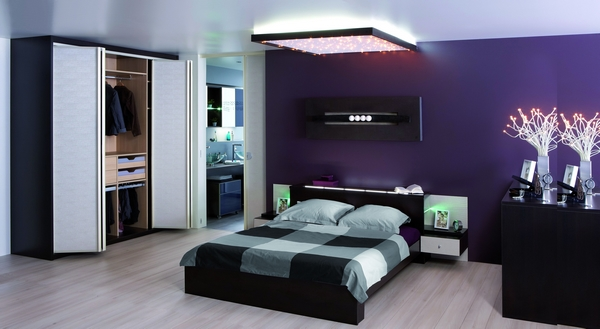 tableau moderne chambre. Black Bedroom Furniture Sets. Home Design Ideas