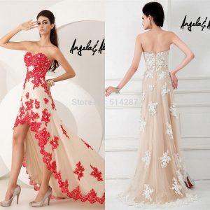 Elegant-Vestido-De-Festa-Asymmetrical-Hem-Lace-Appliques-www.fatakat-ar.comProm-Dresses-font-b-Front-b-font-Short