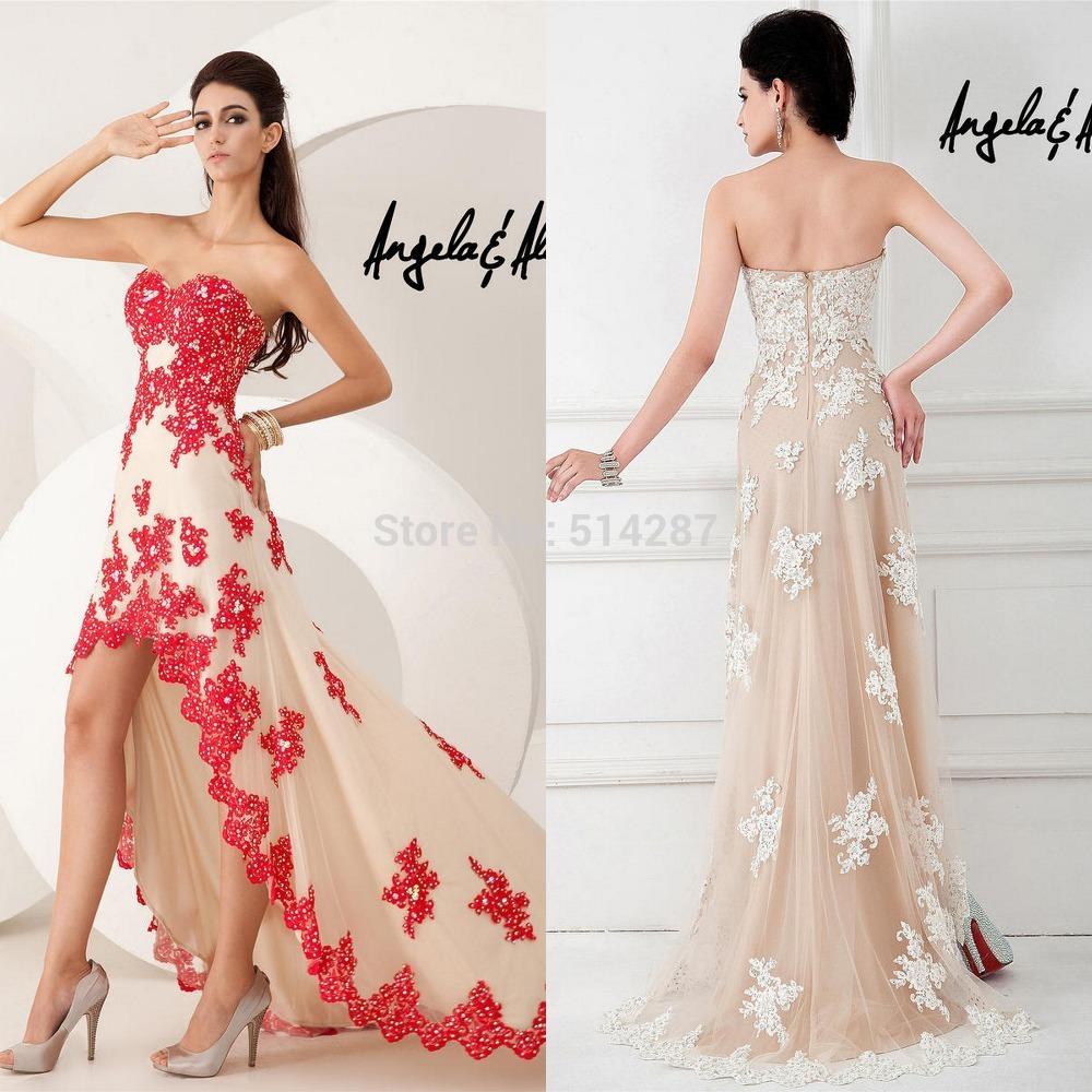 c1f08a336 Elegant-Vestido-De-Festa-Asymmetrical-Hem-Lace-Appliques-