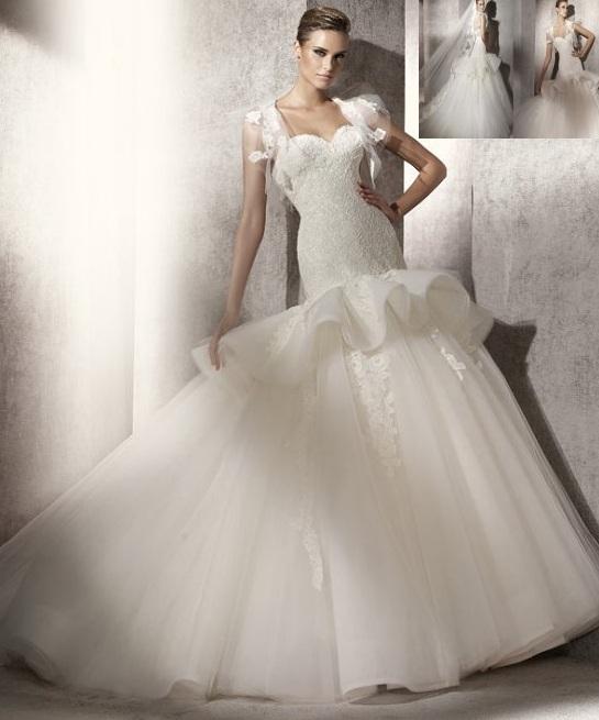 احلي فساتين زفاف منفوشة موديلات عصرية سنة 2015