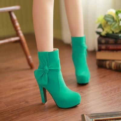 احذية ملونة للبنات شتاء 2015