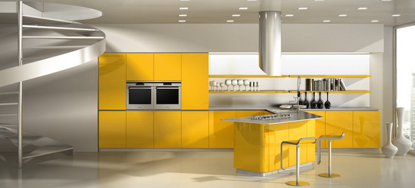 Ultra-Modern-Kitchen-Trends-www.fatakat-ar.comDecoration-Yellow-Theme-Ideas