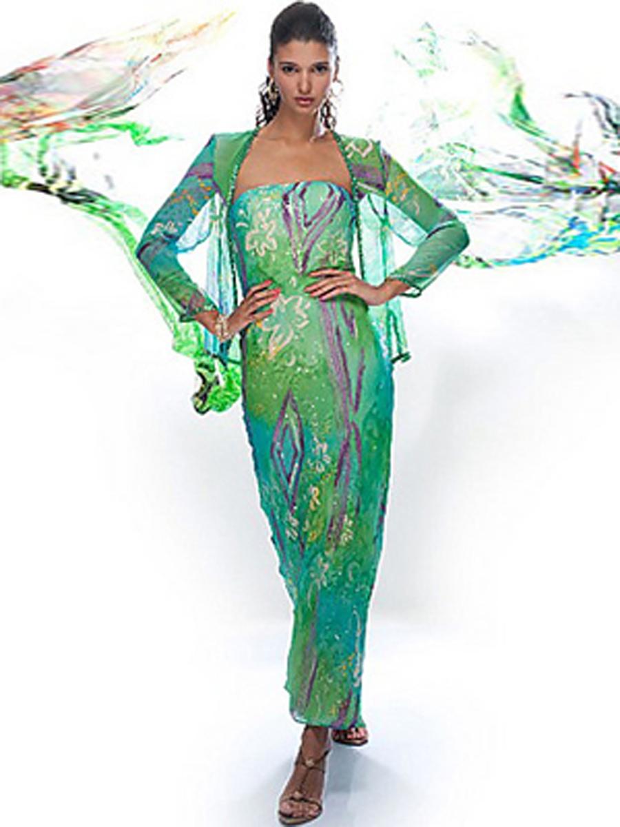 فساتين سواريه خضراء جميلة لعام 2015