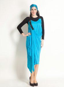 مجموعة شياكة الاداء في اللون الازرق لدريلات المحجبات 2015