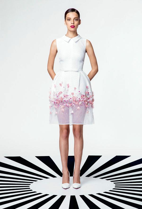 تصميمات جورج حبيقة في فساتين الخطوبة لموديلات سنة 2015