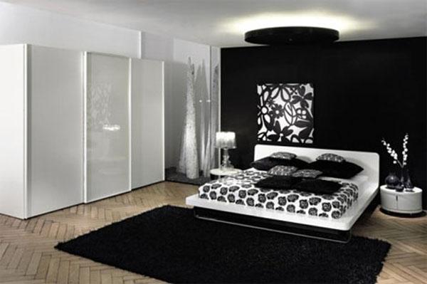 غرف نوم باللون الابيض والاسود بنكهات فرنسية لعام 2016