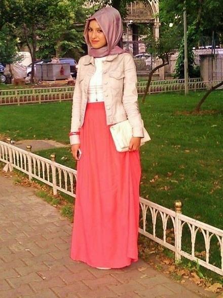 تنانير وبلايز محجبات تركية في صيف 2015