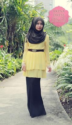 ملابس محجبات صيفية باللون الاصفر موديل 2015