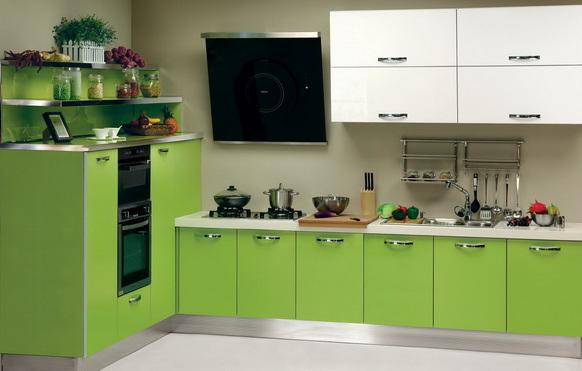 ديكورات مطابخ تركية خضراء