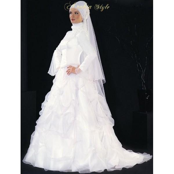 فساتين زفاف محجبات مصرية موضة 2015