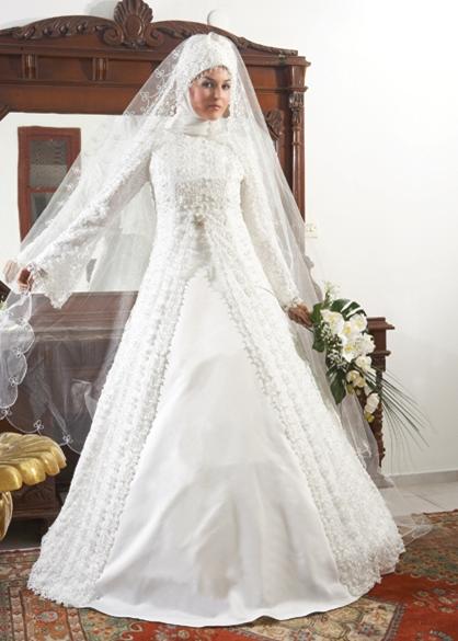 فساتين زفاف رائعه موضة 2015 للمحجبات