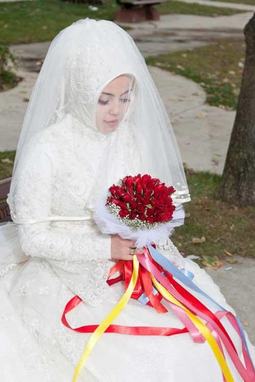 اجمل فساتين زفاف محجبات