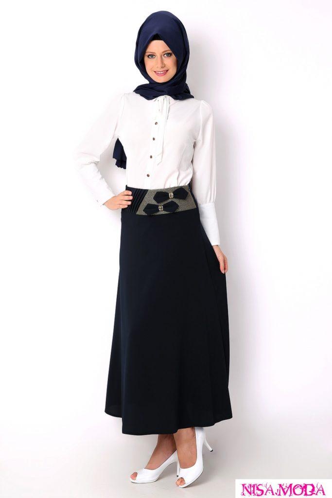 تنانير سوداء جميلة للمحجبات تركية 2015