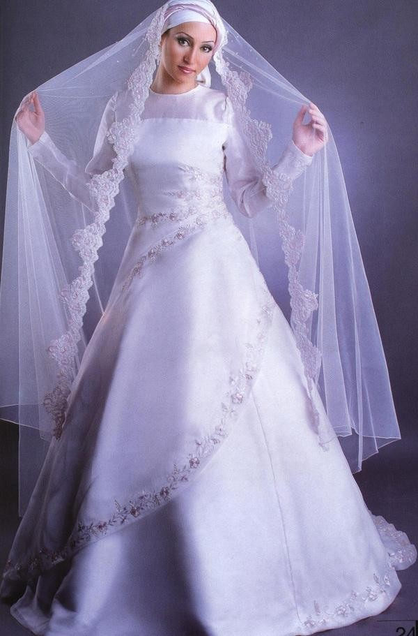 www.fatakat-ar.comاجمل فساتين زفاف محجبات موضة20151