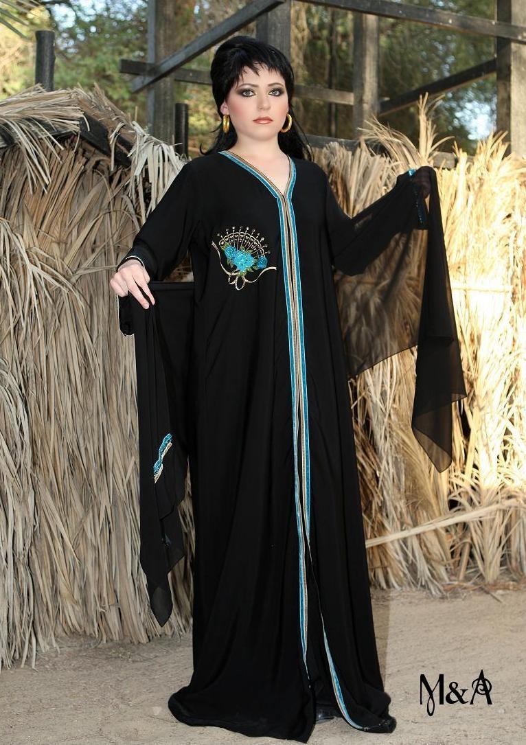 www.fatakat-ar.com احدث عبايات سوداء مصرية 426141