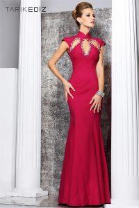 اجمل واحدث ماركات عالمية باللون الاحمر مفتوح من علي الصدر لفساتين النسائية للحفلات الموسيقية 2016