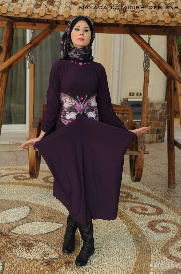 5a959aefa موديل الفراشة هو موديل صيفي ملابس بنات مصر للمحجبات 2015