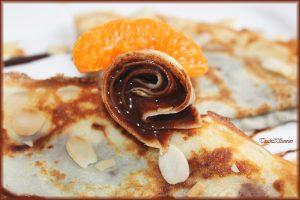 الكريب الفرنسي بالشوكولاته وشرائح البرتقال 2015