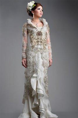 اجمل فساتين زفاف اندويسية 2015