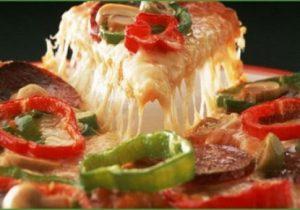 طريقة اعداد البيتزا بالجبنة الرومي