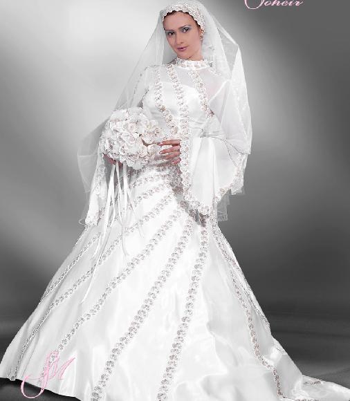 احدث فساتين زفاف محجبات مصرية موضة 2016