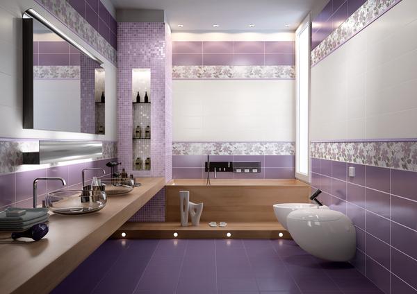 حمامات باللون الموف 2015