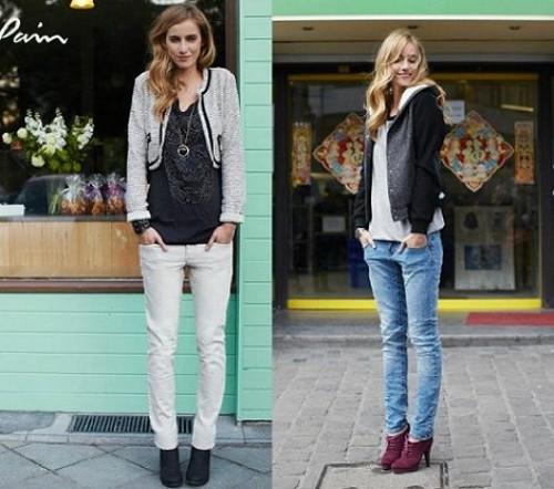 احدث بناطيل جينز زرقاء 2015