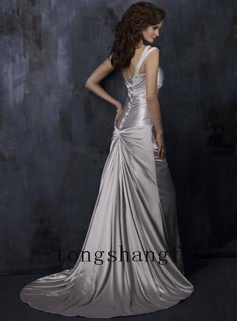 احدث فساتين زفاف سيلفر 2015