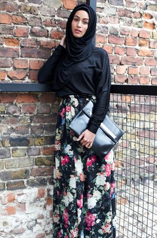 تنانير وبلايز محجبات ملونة 2015