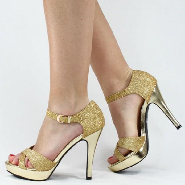احذية سواريه مدهبة 2015