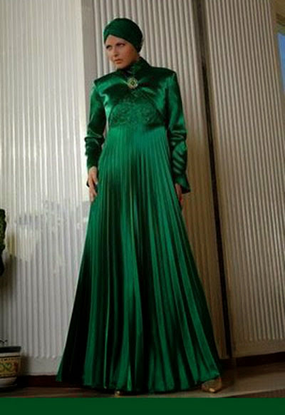 www.fatakat-ar.comAbaya-Fashion-in-Turkey-Darkgreen