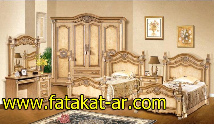 ديكورات غرف نوم خشب جديد