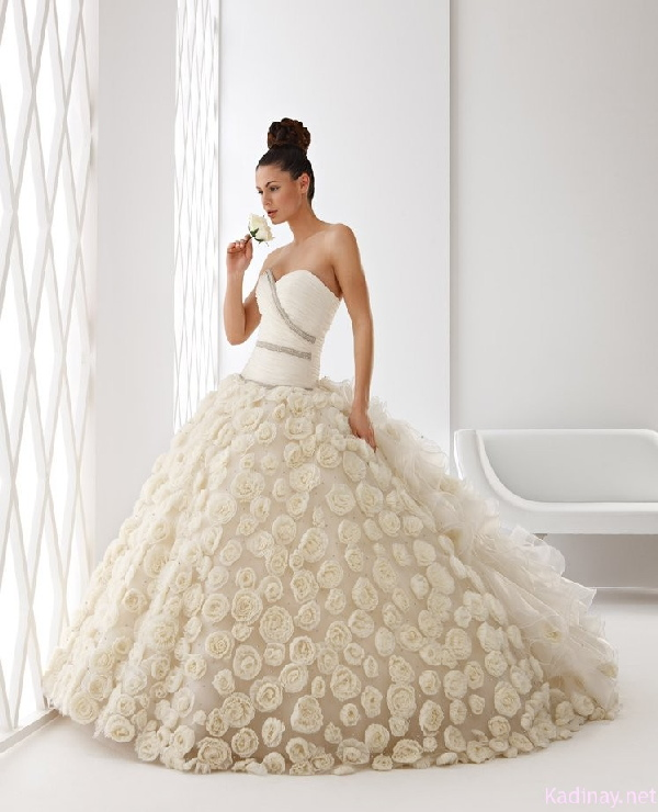 صورة فستان زفاف محجبات تركية