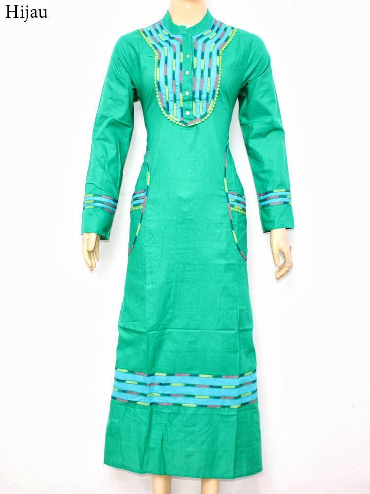 عبايات ملونة خضراء 2015