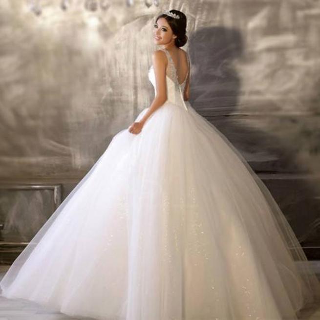 اجمل فساتين زفاف موضة 2016 منفوشة