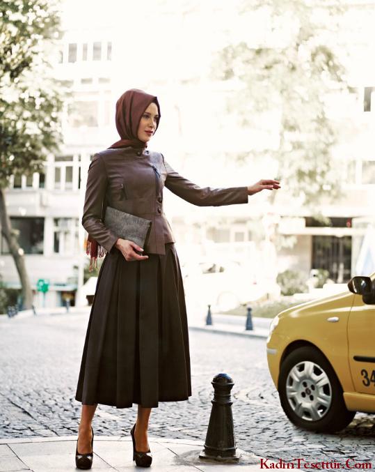 احدث فساتين محجبات تركية صيفية موديلات 2015